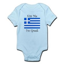 Kiss Me Im Greek Body Suit