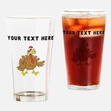 Custom Scared Turkey Drinking Glass