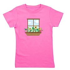 Window Flowers Girl's Tee