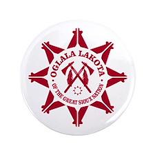 "Oglala Lakota 3.5"" Button"