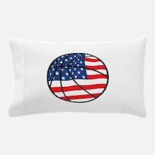 US Flag Basketball Pillow Case