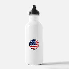US Flag Basketball Water Bottle