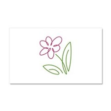 Pink Flower Car Magnet 20 x 12