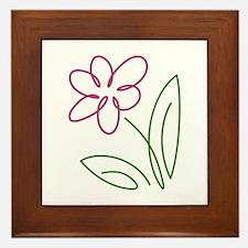 Pink Flower Framed Tile