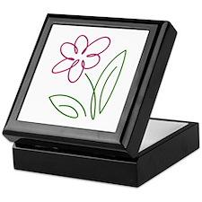 Pink Flower Keepsake Box