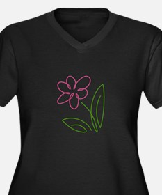 Pink Flower Plus Size T-Shirt