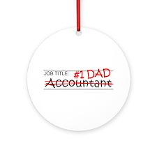 Job Dad Accountant Ornament (Round)