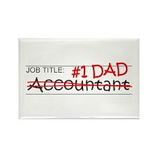 Job Dad Accountant Rectangle Magnet