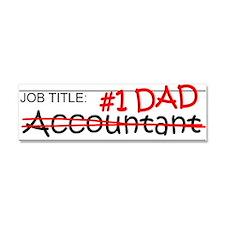 Job Dad Accountant Car Magnet 10 x 3