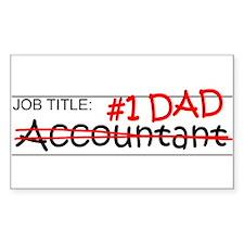 Job Dad Accountant Decal