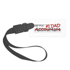 Job Dad Accountant Luggage Tag