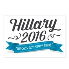 "Hillary 2016 ""Bitches Get Stuff Done"" Postcards (P"