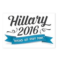 "Hillary 2016 ""Bitches Get Stuff Done"" Postcards (P"