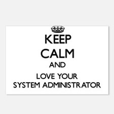 Keep Calm and Love your System Administrator Postc