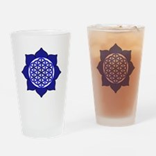 Lotus Blue6 Drinking Glass