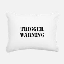 Trigger Warning Rectangular Canvas Pillow