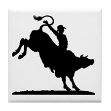 Bull Rider Rodeo Tile Coaster
