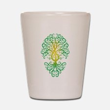 Green Treble Clef Tree of Life Shot Glass