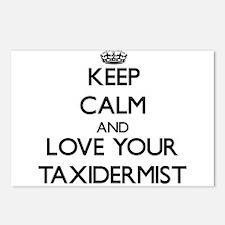 Keep Calm and Love your Taxidermist Postcards (Pac