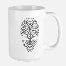 Dark Treble Clef Tree of Life Mugs