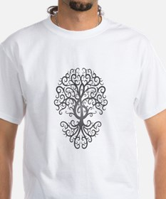Dark Treble Clef Tree of Life T-Shirt
