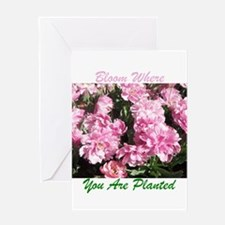 Bloom Where You Are Planted 01 Greeting Cards
