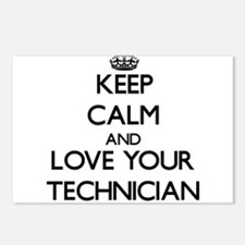 Keep Calm and Love your Technician Postcards (Pack