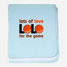 lots of love for the game baby blanket