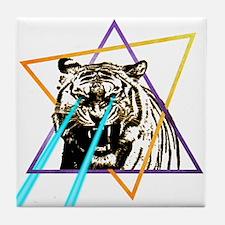 Laser Tiger Tile Coaster