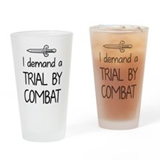 Trial by Combat Drinking Glass