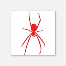 Red Black Widow Spider Sticker