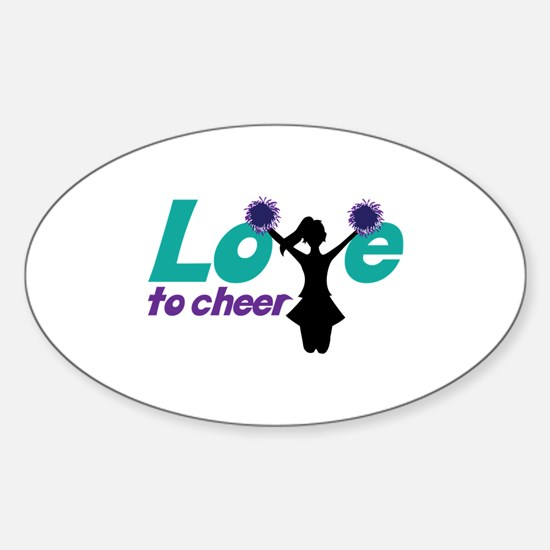 Love to cheer Decal
