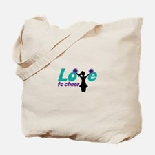 Love to cheer Tote Bag