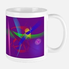 Purple Abstract Lines and Forms Mugs
