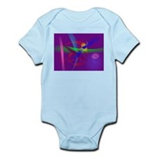 Purple Abstract Lines and Forms Body Suit