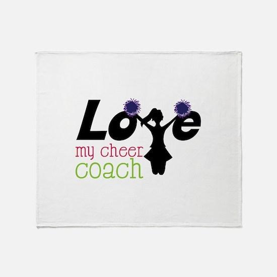 Love my cheer coach Throw Blanket