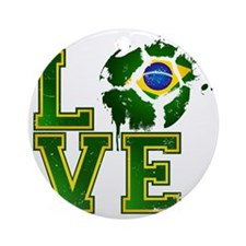 Love Brazilian Football! Round Ornament