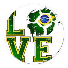Love Brazilian Football! Round Car Magnet