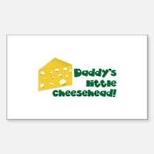 Daddy's little cheesehead! Decal