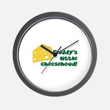 Daddy's little cheesehead! Wall Clock