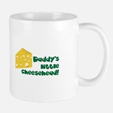 Daddy's little cheesehead! Mugs