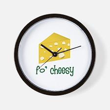 fo' cheesy Wall Clock