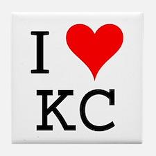 I Love KC Tile Coaster