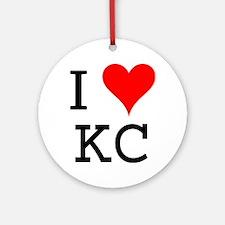 I Love KC Ornament (Round)