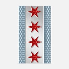 Chicago Flag Metal Look Decal