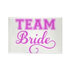 Team Bride pink Magnets