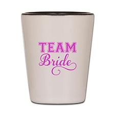 Team Bride pink Shot Glass