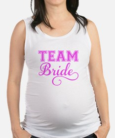 Team Bride pink Maternity Tank Top