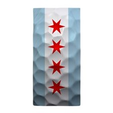 Chicago Flag Golf Ball Beach Towel