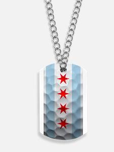 Chicago Flag Golf Ball Dog Tags